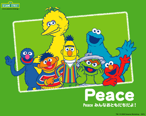 Sesame Street wallpaper with anime titled Sesame Street Learn Japanese