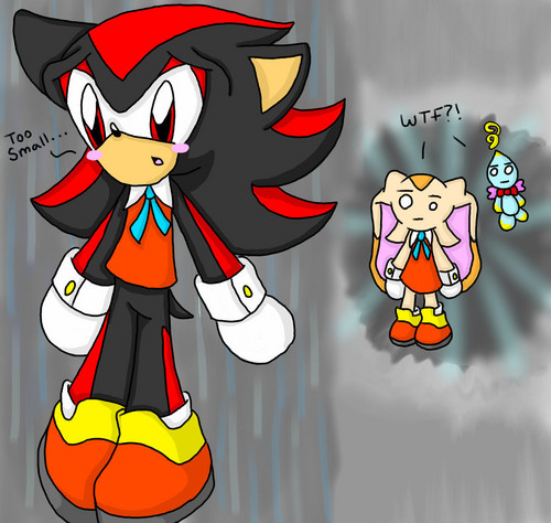 Shadow wearing Cream's clothes XD