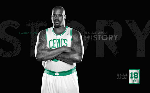 Boston Celtics images Shaquille O'Neal  HD wallpaper and background photos