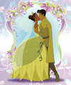 Tiana & Naveen's kiss  - the-princess-and-the-frog photo