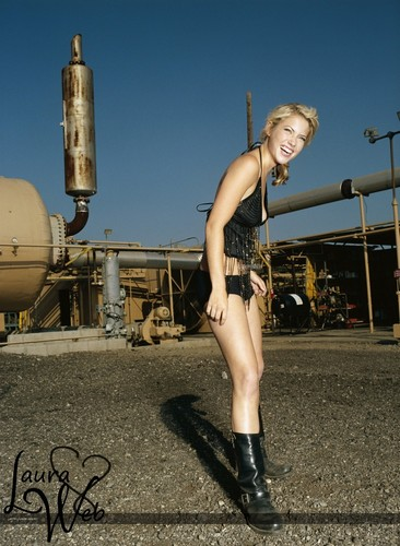 Laura Ramsey wallpaper possibly containing a hip boot and hot pants called Wayne Stambler Photoshoot