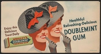 Wrigley's Chewing Gum - vintage Screencap