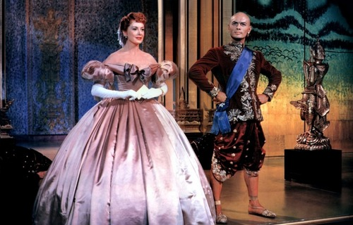Yul Brynner wallpaper containing a hoopskirt entitled Yul Brynner and Deborah Kerr - The King and I