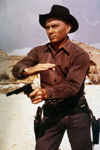 Yul Brynner দেওয়ালপত্র with a rifleman, a fedora, and a boater called Yul Brynner