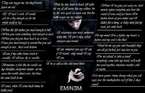 EMINEM wallpaper entitled favourite emnem lyirc quotes