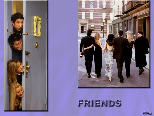 Friends wallpaper probably containing a street, a business suit, and a well dressed person titled Friends forever