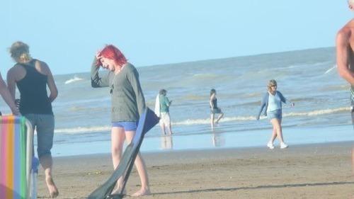 hayley en la playa