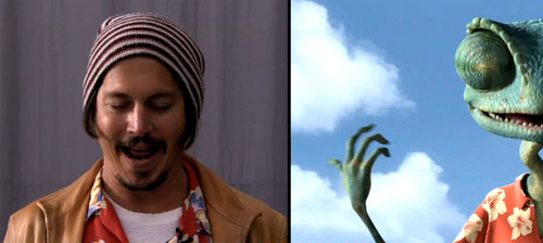 johnny depp- The Making of Rango