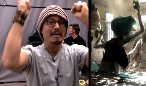Johnny Depp wallpaper titled johnny depp-The Making of Rango