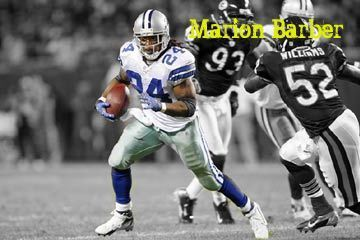 NFL 壁紙 containing a tailback, a lineman, and an american football entitled marion barber