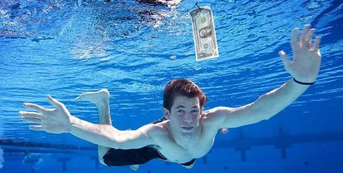 "the boy who was the baby on the cover of nirvana's album ""nevermind"""