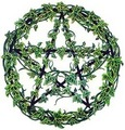 Green Ivy Pentacle - paganism photo