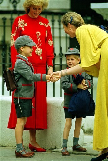 prince williams and harry at diana. william, harry, diana; prince