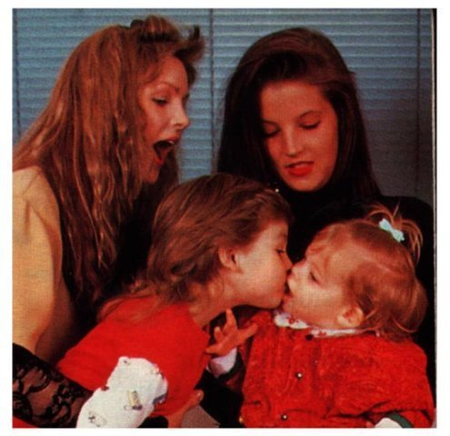 lisa marie presley wallpaper containing a portrait called -Lisa Marie, and her children.
