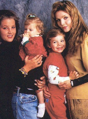 lisa marie presley wallpaper called -Lisa Marie, and her children.