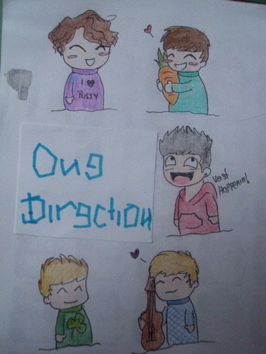 One Direction wallpaper entitled 1D Drawings 100% Real :) x