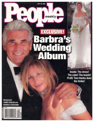 Barbra Streisand 바탕화면 containing 아니메 titled Barbra Streisand's Wedding - People