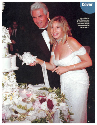 Barbra Streisand wallpaper containing a bridesmaid and a bouquet titled Barbra Streisand's Wedding - People