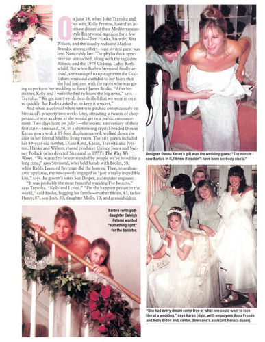 Barbra Streisand Hintergrund titled Barbra Streisand's Wedding - People