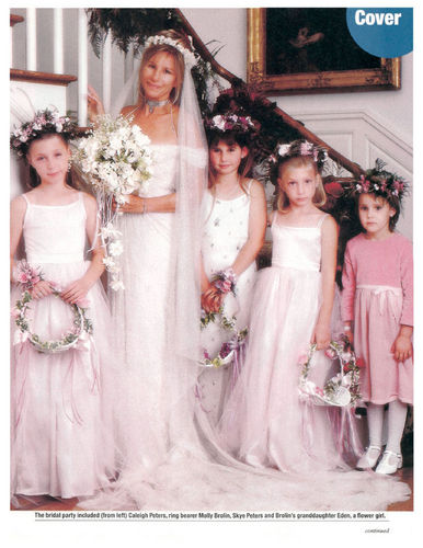 Barbra Streisand hình nền with a bridesmaid called Barbra Streisand's Wedding - People