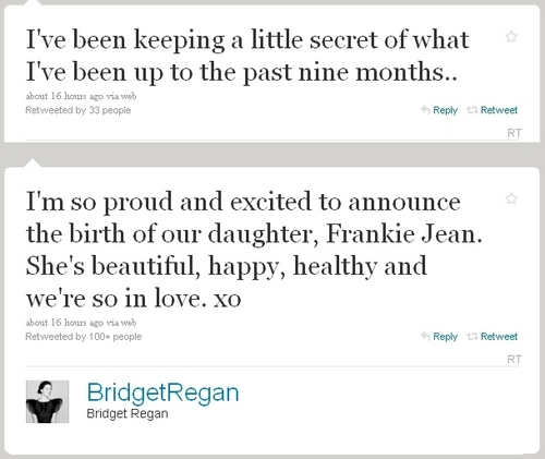 Bridget Regan Обои titled Bridget gave birth to a baby girl!