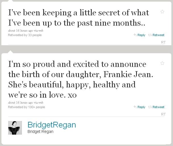 Bridget gave birth to a baby girl!