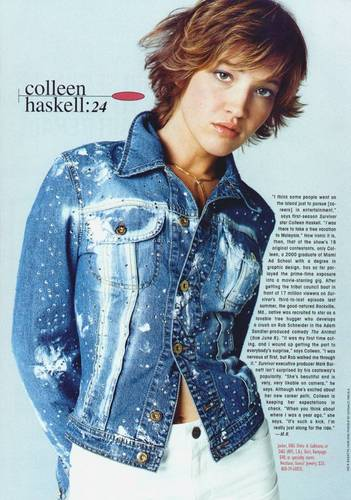 Colleen Haskell wallpaper probably with a cardigan called Colleen Haskell
