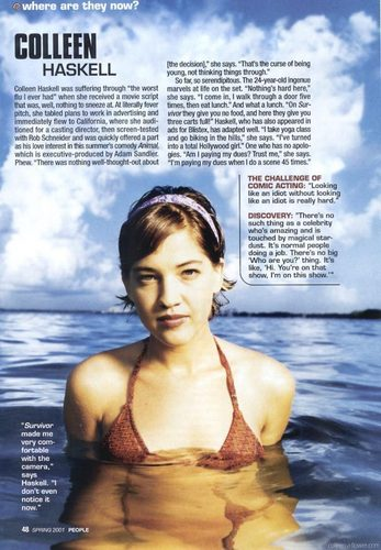 Colleen Haskell karatasi la kupamba ukuta probably with a bikini called Colleen Haskell