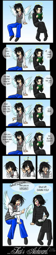 Comic - Snape and Sirius in Heaven
