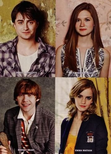 Dan,Rupert,Emma and Bonnie