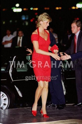 Diana, ariving for a abendessen in Argentina