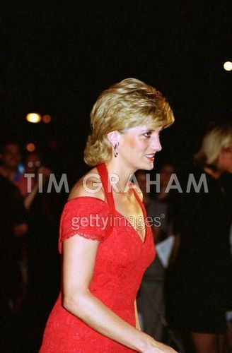 Diana arriving for a avondeten, diner in Argentina