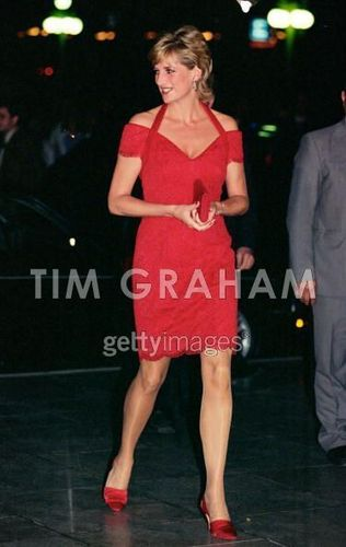 Diana arriving for a abendessen in Argentina