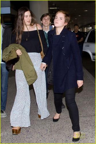 Emma Watson at Los Angeles International Airport on Friday (December 31)