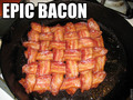 Epic bacon waffle - food photo