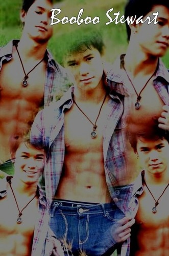 Boo Boo Stewart Hintergrund possibly with a portrait titled Fan Arts