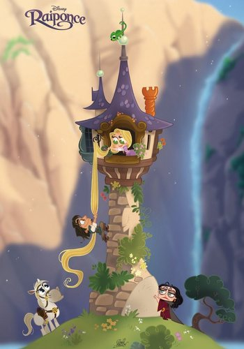 Flynn climbing the tower - tangled Fan Art