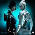 Gem and Quorra - tron-legacy photo