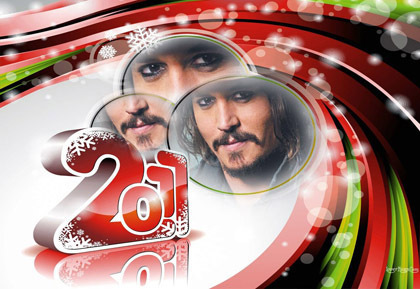 Johnny Depp wallpaper probably with a roulette wheel called HAPPY NEW YEAR 2011 :DDDDDDD