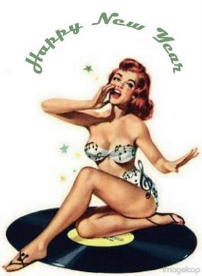 pin up girl wallpaper possibly with skin called Happy New tahun