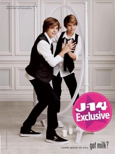 J-14 Magazine Behind Scenes Dylan and Cole Got Milk? Spot!!