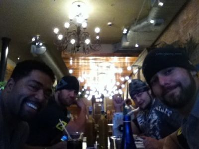 Justin Gabriel,David Otunga,Michael McGillicutty and Husky Harris