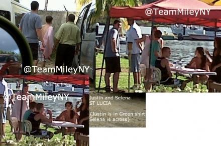 Justin & Selena Gomez In St. Lucia - Justin Bieber 440x291
