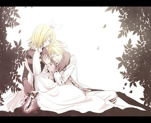 Rin und Len Kagamine Hintergrund containing a bouquet called Kagamine