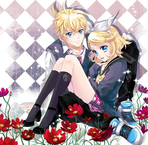 Rin und Len Kagamine Hintergrund entitled Kagamine