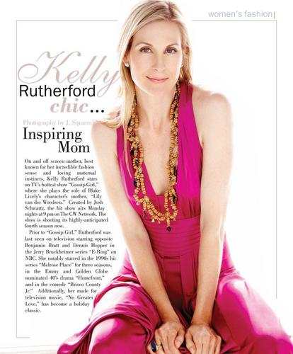 Kelly Rutherford for Fifth Ave Magazine december/january 2010-11