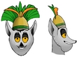 King Julian - penguins-of-madagascar fan art