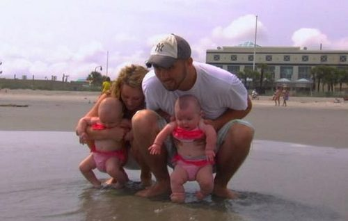 Leah (Mom), Corey (Dad), And Babies Alianna And Aleeah