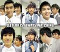 Leeteuk is always watching