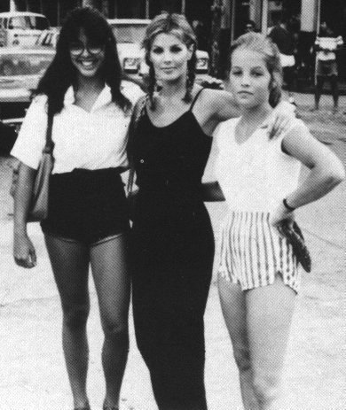 Lisa Marie Presley wolpeyper with a maillot and a leotard titled Lisa Marie Presley